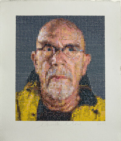 Chuck Close, 'Self-Portrait / Felt Hand Stamp', 2012