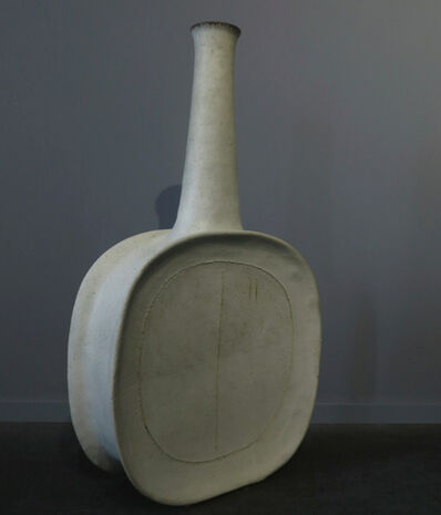 Bruno Gambone, 'Sculpture, White Flask', ca. 1989