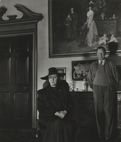 Bill Brandt, 'Edith and Osbert Sitwell, Beneath the Family by Sargent, Renishaw Hall, Derbyshire'