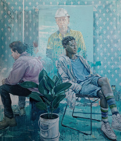 Fintan Magee, 'Jimbo and Owen in the Studio ', 2019