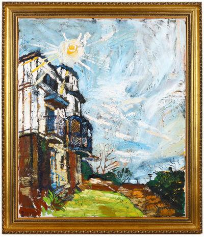John Bratby, 'Sun over cupola', 1979