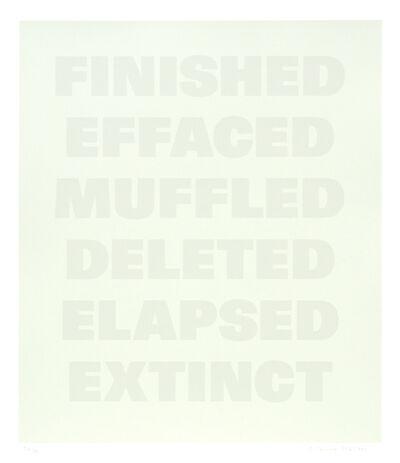 Remy Zaugg, 'Untitled (E)', 1994