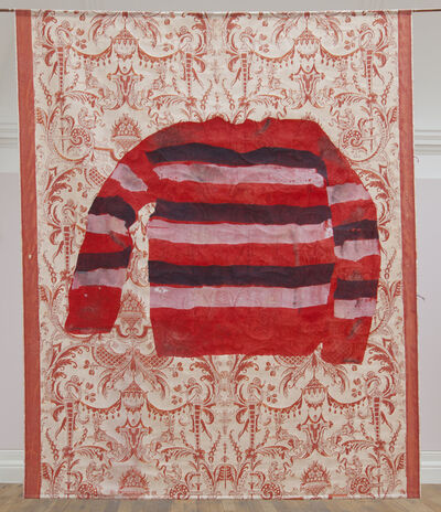 Shezad Dawood, 'Red, blue and white striped jumper', 2017