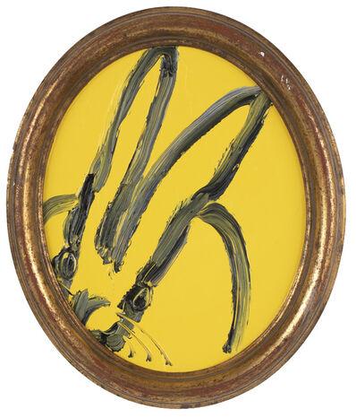 Hunt Slonem, 'Untitled, Yellow Oval Bunny', 2019