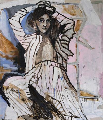 Mie Olise Kjærgaard, 'Pinstriped in the Sofa', 2021