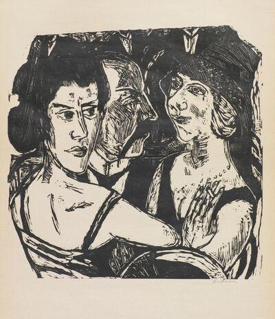 Max Beckmann, 'GRUPPENBILDNIS EDENBAR', 1923