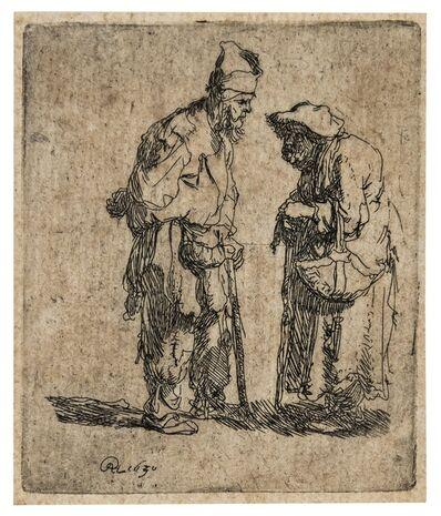Rembrandt van Rijn, 'Beggar man and beggar woman conversing', circa 1630