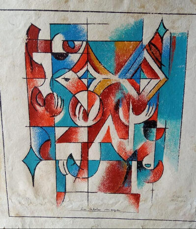 Carlos Merida, 'La estela maya', 1981