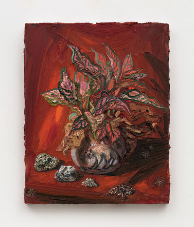 Allison Schulnik, 'Gin Bowl & Tarantula', 2019