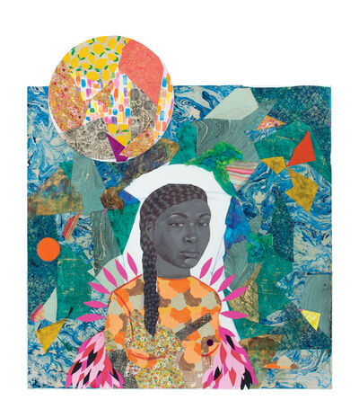 Jamea Richmond-Edwards, 'Pink feathers and orb', 2019