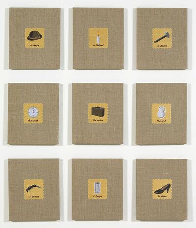 Elaine Reichek, 'Swatches, Magritte 1-9', 2007