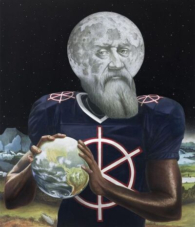 Sean Landers, 'Galileo, Randy Moss and Patiner', 2016