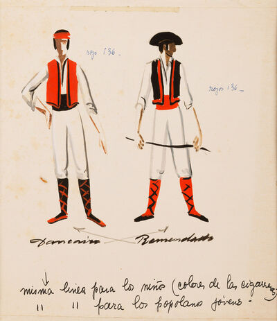 """Armando Barrios, 'Bocetos para ópera """"Carmen"""" (Bizet)', undated"""