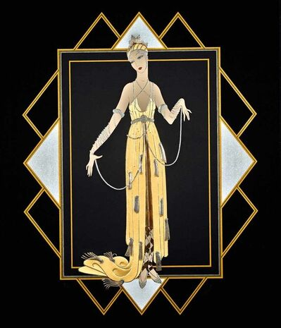 Erté (Romain de Tirtoff), 'Florida (Pearl Dress) ', 1989