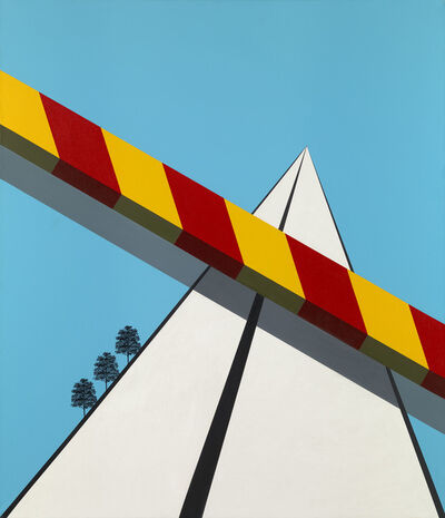Allan D'Arcangelo, 'Landscape with Three Trees', 1968