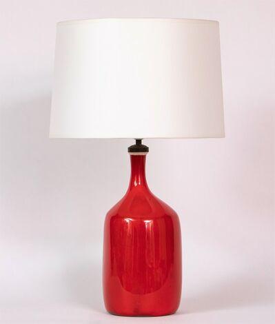 Jacques & Dani Ruelland, 'Lampe Rouge Col Décentré', ca. 1960