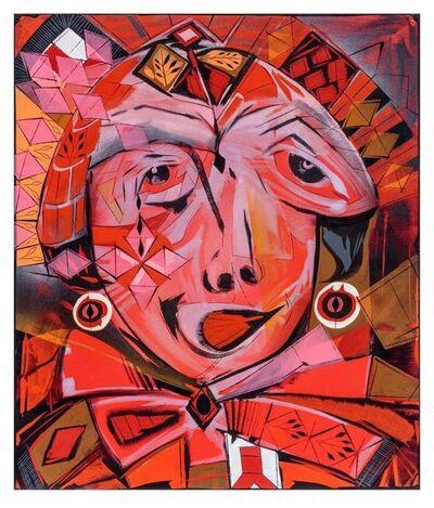 "Lari Pittman, '""Self-determination #1"" (reds)', 2017"