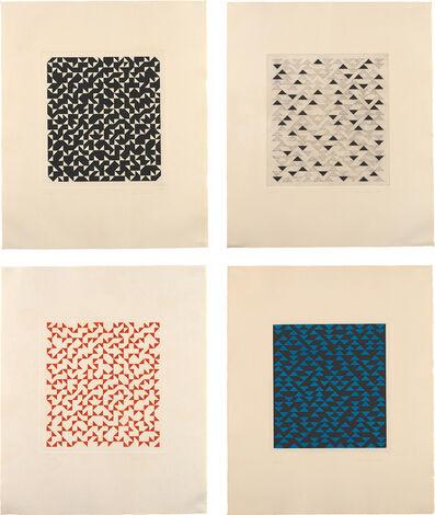 Anni Albers, 'Four works: (i) Triangulated Intaglio II; (ii) Triangulated Intaglio III; (iii) Triangulated Intaglio IV; (iv) Triangulated Intaglio V'