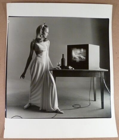 Bert Stern, 'Twiggy with TV Set, Vogue'