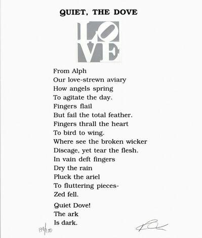 Robert Indiana, 'Quiet, The Dove', 1996