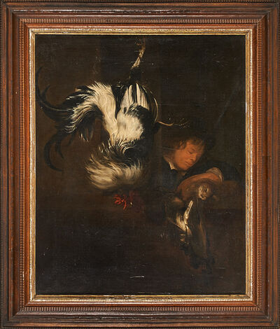 European School, 'Untitled (still life with rooster)', 19th c.