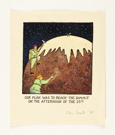 Glen Baxter, 'Our Plan Was To Reach the Summit on the Afternoon of the 25th', 1998