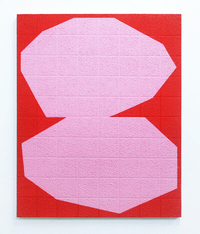 Michael Wall, 'Grid II Pink on Red', 2019