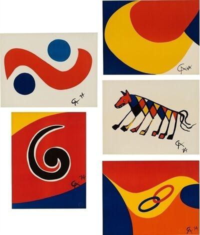 Alexander Calder, 'Flying Colors (set of 5)', 1974