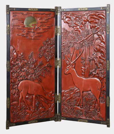Unknown Japanese, 'Two Panel Screen', 19th Century