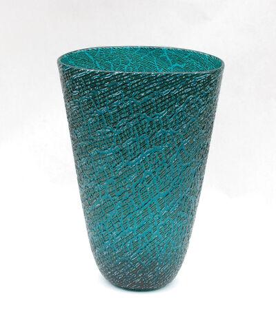 Lino Tagliapietra, 'Blue Vase - Effetre Internationale', 1988