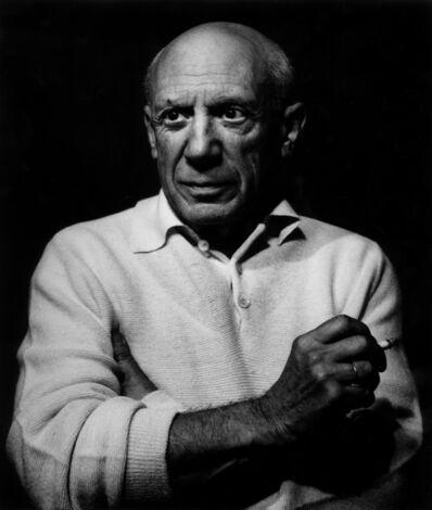 Lucien Clergue, ' Picasso à la cigarette III, Cannes', 1956