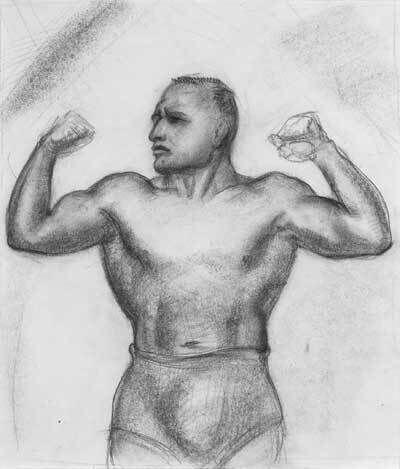 John Steuart Curry, 'Study for Jimmy Demetral (Strongman)', 1946