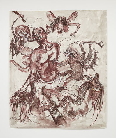 """Kara Walker, 'Barack Obama Tormented Saint Anthony Putting Up With the Whole """"Birther"""" Conspiracy', 2019"""