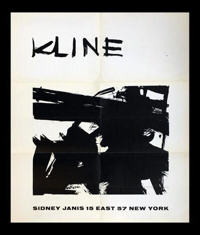 Franz Kline, 'Franz Kline at Sidney Janis (1950s exhibition poster)', 1958