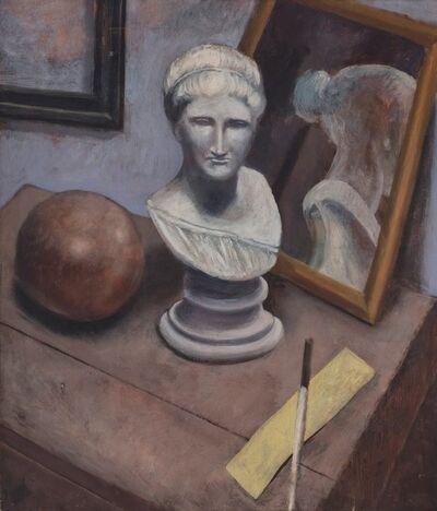 Guglielmo Janni, 'Natura morta con statua e specchio', 1932