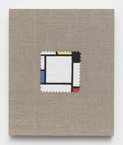 Elaine Reichek, 'Swatch, Mondrian', 2012