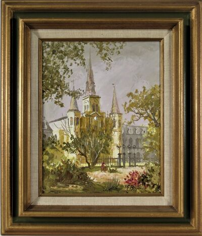 "Edmund Chuck Blouin, ' ""Saint Louis Cathedral, New Orleans"" ', ca. 1970"