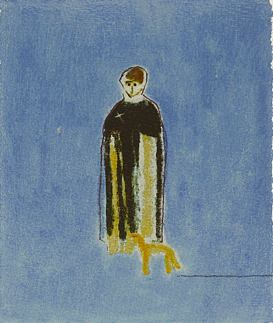 Craigie Aitchison, 'Priest And Dog', 2004