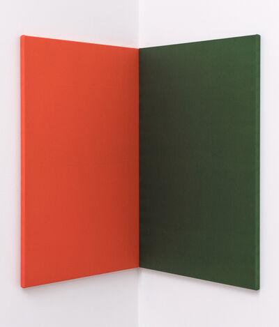 Andrea Büttner, 'Fabric Painting (orange/green corner)', 2015
