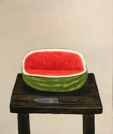 Mike Piggott, 'Watermelon with Knife', 2018