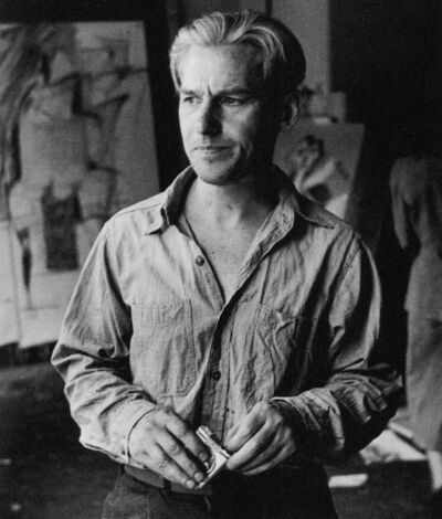 Rudy Burckhardt, 'Willem de Kooning (with cigarettes)', 1950