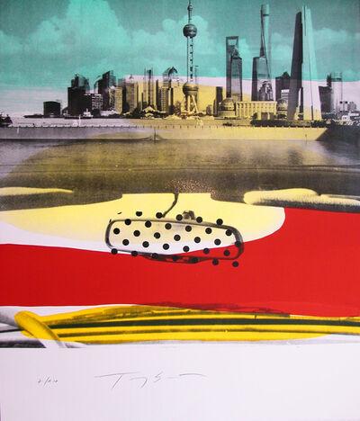 """Tony Soulié, 'original lithograph """"Shanghaï - Le Bund hansigned by Soulié', 2017"""