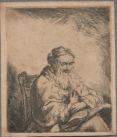 Ferdinand Bol, 'The Old Man with a Leaf of Trefoil on His Coat', ca. 1650