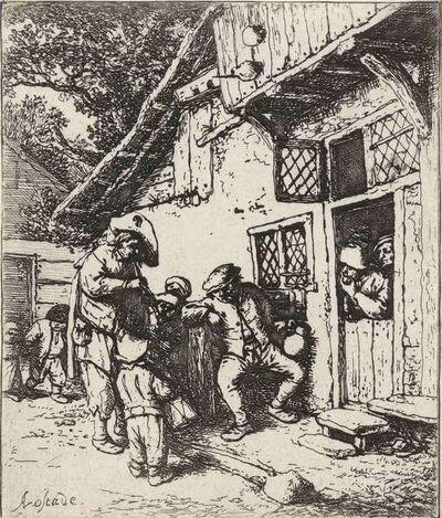 Adriaen van Ostade, 'THE WANDERING MUSICIANS (HOLLSTEIN, GODEFROY 39)', circa 1642