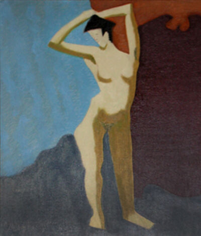 Milton Avery, 'Nude With Upraised Arms', 1945