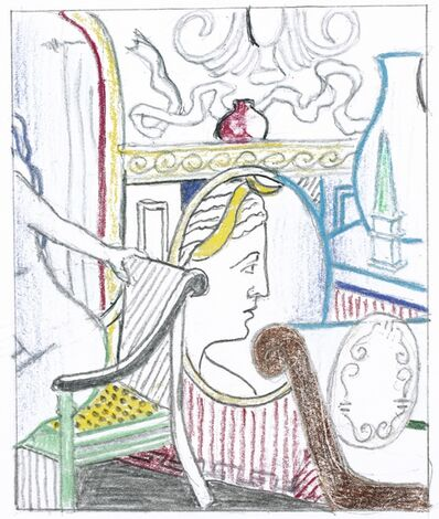Roy Lichtenstein, 'Interior with Diana' (Study)'