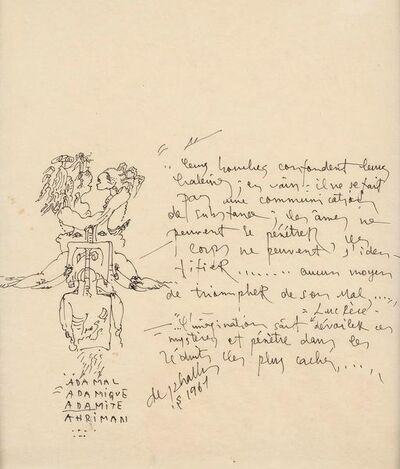 Niki de Saint Phalle, 'Two Drawings', 1967