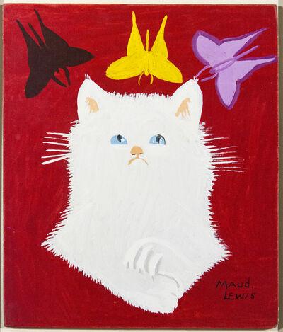 Maud Lewis, 'Portrait of White Cat & Framed Envelope', 1967