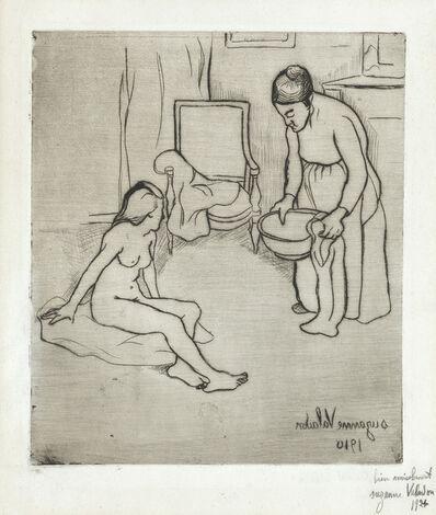 Suzanne Valadon, 'Grand Mère et Louise assise à terre', 1910