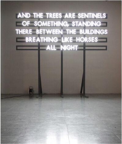 Robert Montgomery, 'Sentinels', 2012